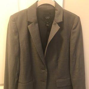 JCrew Light Grey Wool Suit Jacket